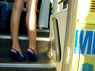 Upskirt Girl In Bus