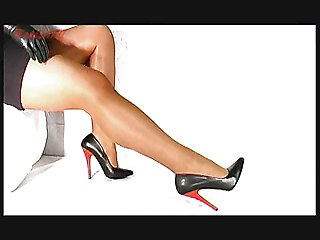 High Heels And Shiny Legs