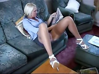 Staged Sheer Pantie Upskirt