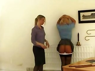 Femdom Office Spanking