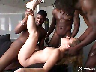 Kayla: Interracial Gangbang