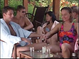 Crazy Outdoor Orgy With Tons Of Fucking