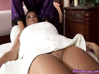 Shy Girl Gets Her First Massage Ever