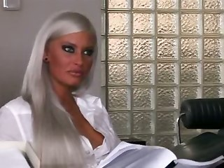 Sexy Blonde Is A Perfect Stuff For Office Shag
