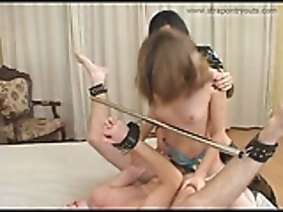 2 Girls Fuck 1 Guy With Strapon
